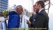 【Chris Evans】【双语】斯坦李老爷子在神奇四侠拍摄片场鼓励桃总
