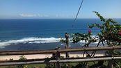 巴厘岛情人崖看海,猴子们到处乱窜
