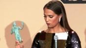 演员工会奖答记者问 最佳女配艾丽西亚·维坎德