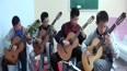 阳光吉他刘军教学法,学生集体弹奏《阿尔罕