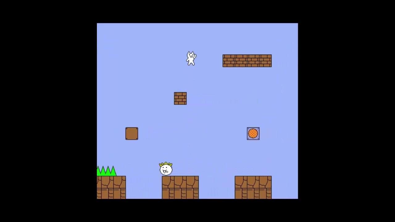 神操作无伤速通 - 超变态游戏《猫版马里奥》(猫里奥/玛丽猫)1-4关 激情解说!