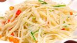 酸辣土豆丝,用简单食材烹调出美味菜肴