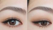 【中字 Hitomi】简单眼妆#4 使用EXCEL眼影的基础棕色妆 晕染的上扬眼线