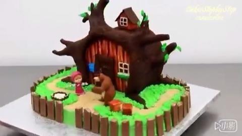 玛丽与小熊翻糖 蛋糕
