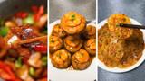 今日美食推荐:开年回锅肉,肉馅香菇,酸辣土豆片