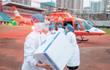 """直接""""空投""""!直升机给武汉协和送去防疫物资,包括2.4万个N95"""
