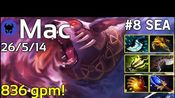 836 gpm! Mac [Voyager] plays Ursa!!! Dota 2 7.21