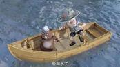 熊出没:光头强的船触礁漏水了,沉没后强哥不会游泳溺水了