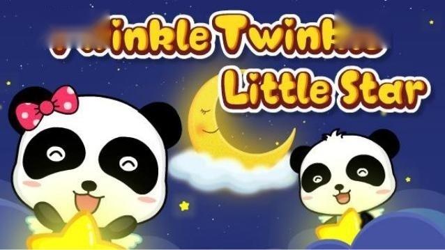 孩子哄睡儿歌丨一闪一闪小星星,原版英文儿歌,英语启蒙儿歌动画
