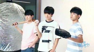 《我们的少年时代》海报拍摄特辑:TFBOYS玩转棒球