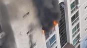 韩国首尔瑞草洞公寓发生火灾 附近居民紧急躲避-日韩朝社会资讯-亚洲观察员