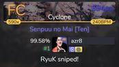 azr8 | Ayane - Senpuu no Mai [Ten] [Cyclone] +HDDT 99.58% {#1 694pp FC} - osu!