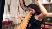 J.S. Bach - Toccata and Fugue in D Minor BWV 565 -- Amy Turk- Harp