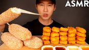 【zach choi】助眠MOZZARELLA玉米狗和鸡块(不说话)吃的声音| Zach Choi助(2019年11月18日13时16分)