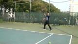 南昌乐享网球左撇子帅哥的第四次正手入门训练
