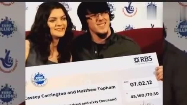 情侣中彩票赢得3.9亿 拿出上千万送好友