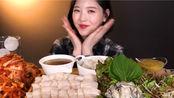 【eat with boki】吃播五花肉、蛤蜊、荞麦面和大酱汤