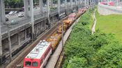"""出没在广深线上的""""金鹰仔""""——57097次列车通过小北天桥"""