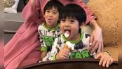 陈若仪晒双胞胎儿子吃冰淇淋照,而最后一张照片引起网友猜测!