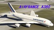 【Aerofly FS 2019】Air France A380 landing in Los Angeles.