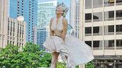 梦露雕像被偷,腿以上部分全被锯,网友:这小偷想干嘛?