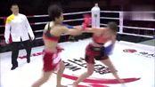 女子60公斤赛,王聪VS泰拳冠军列丝姬芙,女神倒下很心疼!