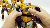变形金刚_建设装备汽车玩具_黄锦江构造汽车机器人变身玩具卡车玩具【俊和他的玩具们_6