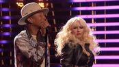 【好声音导师同台飙歌】Christina & Blake & Pharrell & Adam 2015.02.23