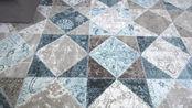 【宏兴】 地毯现代简约土耳其进口地毯北欧式美式客厅茶几毯春夏房间薄地毯卧室床边毯几何图案地毯 喀秋莎8214B 1.56米2.3米
