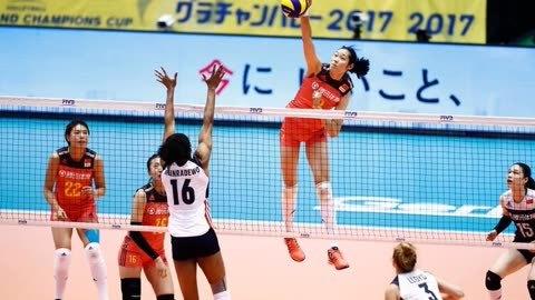 世界女排大冠军杯 中国队逆转美国队取得开门红