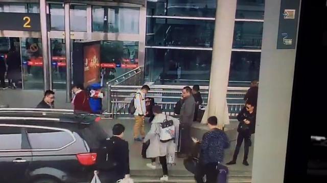 长沙黄花机场车祸现场视屏