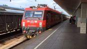 老京沪线上的套跑火车 HXD3D牵引济南至日照K8285次进泰山站