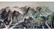 袁德喜画家在中国囯际国画院展览
