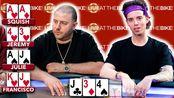 德州扑克 非常漂亮的利用隔断张偷鸡 罕见的两队VS超对顶对
