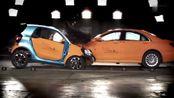 奔驰smart,VS奔驰S级,碰撞不是一个量级?