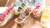 【nana】各种好吃的奶油泡芙(冰)真的各种好看…颜控…wsl!吃播咀嚼音食音~