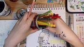 【手绘插画】amis的手绘日常#4 需要耐心的每一天