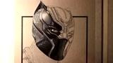 黑豹 马克笔人物手绘