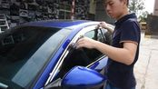 广本-十代雅阁改装奥克福铂金电镀晴雨挡电镀雨眉安装效果视频
