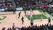 NBA季后赛 NBA花絮字母哥罚球线滑翔扣篮