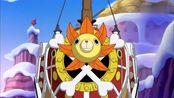 海贼路飞再次对战四皇大妈,大妈艾尔巴夫之枪威国,秒掉巴姆大王