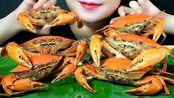 【玲玲小姐姐】助眠水煮双层皮蟹(点蟹)嘎吱嘎吱嘎吱的吃法(2020年2月27日21时50分)