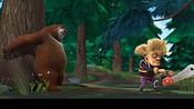 英勇神武的熊大没收光头强伐木工具