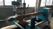 数控木工车床给楼梯扶手曲线拉槽、虎森数控