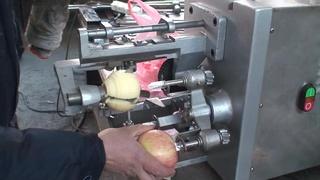 苹果去皮捅核切瓣机 苹果削皮机