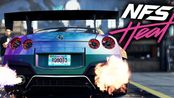【极品飞车:热度】游戏实机试玩演示NEED FOR SPEED HEAT Nissan GT-R Customization & Police Chase