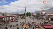 在西藏拉萨 这样的场景你一辈子睹没见过