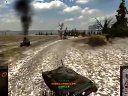 【坦克世界】埃勒斯堡_T-54跑满全场,4杀建功