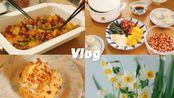 治愈此刻的你.vlog | 整理花草 | 焦糖奶油泡芙 | 大盘鸡 | 青菜粥 炸酱面 | 过好宅在家的每一天,并期待春暖花开早点到来