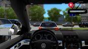 城市汽车驾驶,驾驶大众途观在高速公路上狂奔、房耨超车
